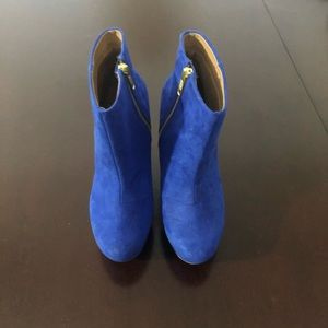 Blue Aldo wedge boots likes new